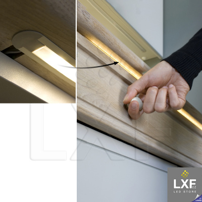 lišta pro LED pásek KLUS MICRO-K černý