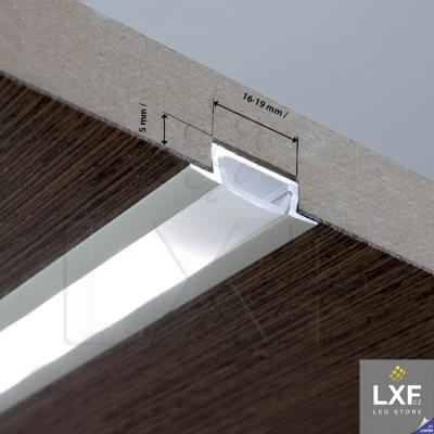 profily pro LED pásky KLUS MICRO-K černý