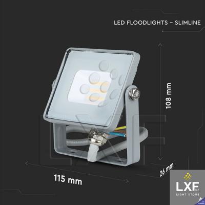 venkovní led reflektor 10W V-TAC VT-10, šedý
