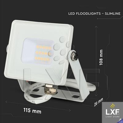 venkovní reflektor 10W V-TAC VT-10, bílý