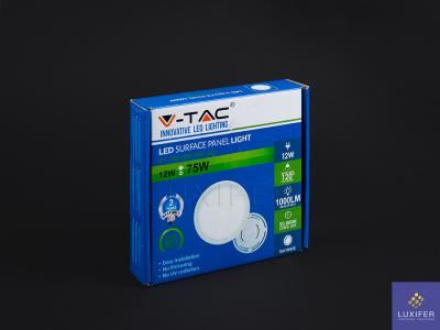 led panel stmívatelný V-TAC VT-1205 kulatý 12W
