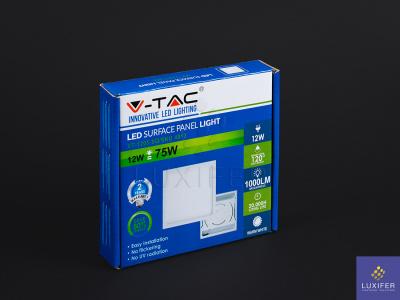 led stropní panel V-TAC VT-1205 hranatý 12W