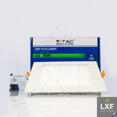 led panel V-TAC VT-1207 hranatý 12W