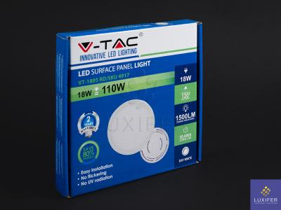 led stropní panel V-TAC VT-1805 kulatý 18W