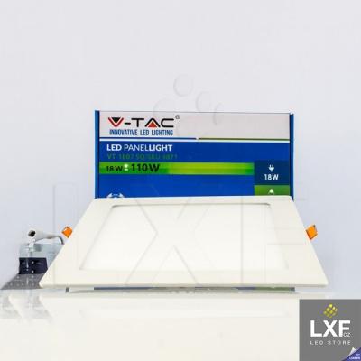 led panel V-TAC VT-1807 hranatý 18W