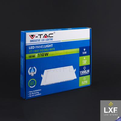 světelný panel V-TAC VT-1807 hranatý 18W