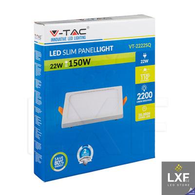 světelný panel V-TAC VT-2222 hranatý 22W