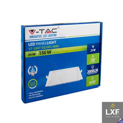 led panel stmívatelný V-TAC VT-2407 hranatý 24W