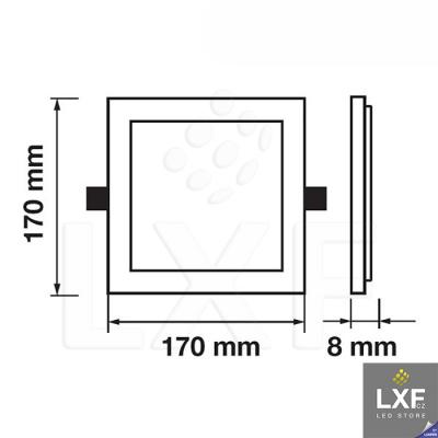 světelný panel V-TAC VT-2929 hranatý 29W