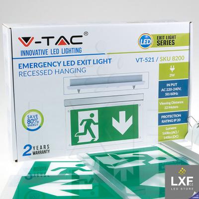 nouzové osvětlení LED V-TAC VT-521 SKU-8314