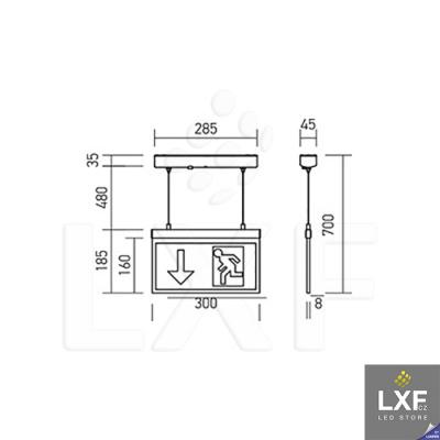 nouzová LED svítidla V-TAC VT-521 SKU-8314