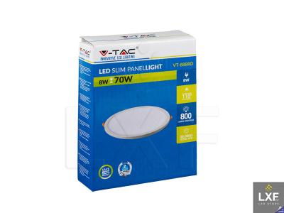 led stropní panel V-TAC VT-888 kulatý 8W