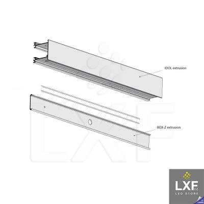 lišta pro LED pásek KLUS IDOL anodizovaný