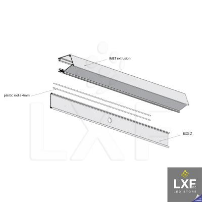 led profil KLUS IMET anodizovaný