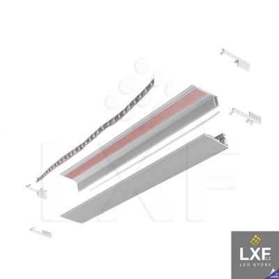 led profil KLUS KRAV-810 anodizovaný