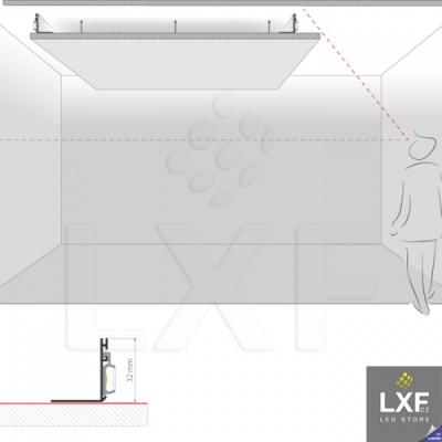 vestavné LED svítidlo KLUS NISA-KON neanodizovaný