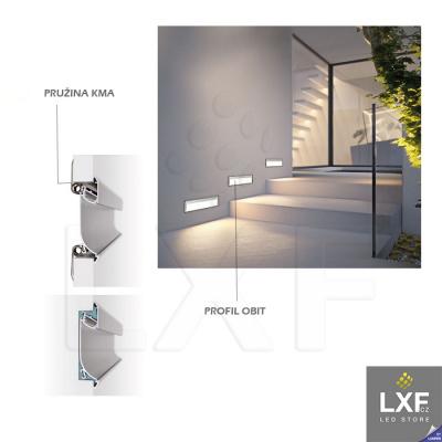 podhledove LED svetlo KLUS OBIT anodizovaný