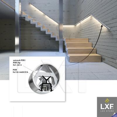 profily pro led pásky KLUS POR anodizovaný