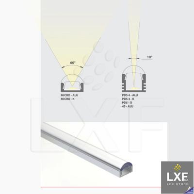 difuzor LED KLUS S čirý