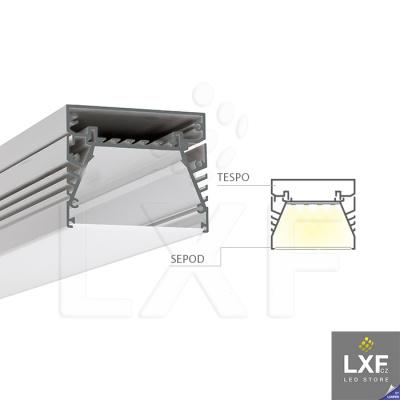 profily pro led pásky KLUS SEPOD anodizovaný
