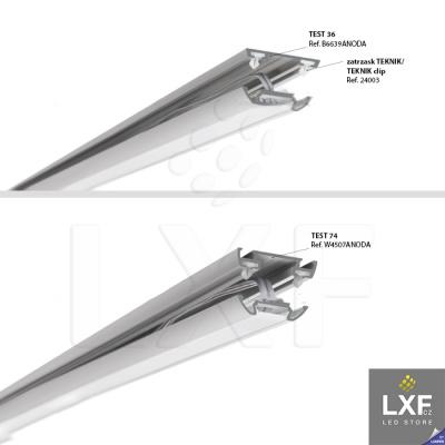 profily pro LED pásky KLUS STOS-ALU anodizovaný