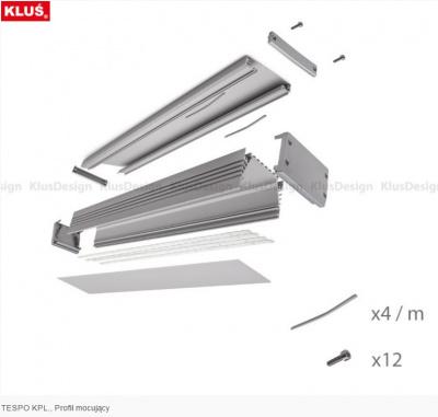 lišta pro LED pásek KLUS TESPO anodizovaný