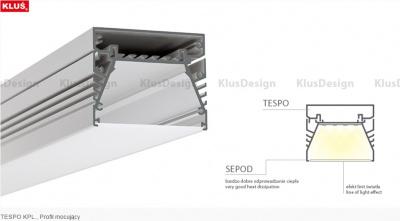 profily pro led pásky KLUS TESPO anodizovaný