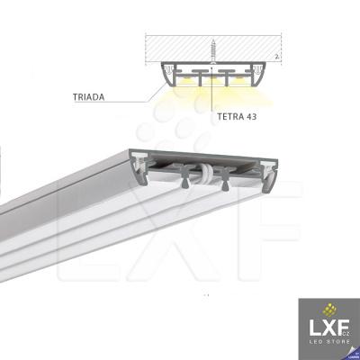 lišta pro LED pásek KLUS TETRA-43 anodizovaný