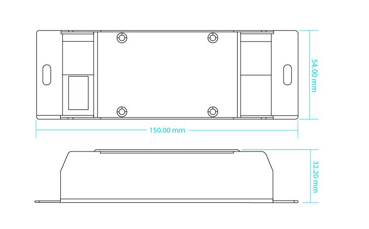 Sunricher jednokanálový zesilovač 1x24A (SR-3003)-Technický výkres