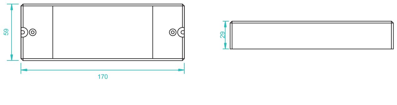 Sunricher RF LED RGBW přijímač, 4x8A - DIM10 (SR-1009EA)-Technický výkres