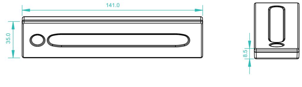 Sunricher RF 1-zónový dotykový LED ovladač - DIM10 (SR-2833TS)-Technický výkres