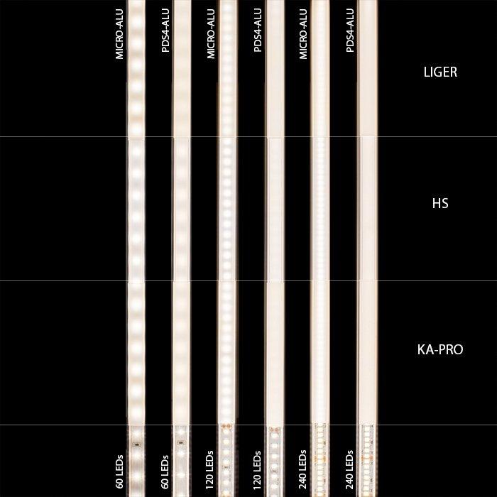 LED difuzor KLUŚ LIGER mléčný - 17037