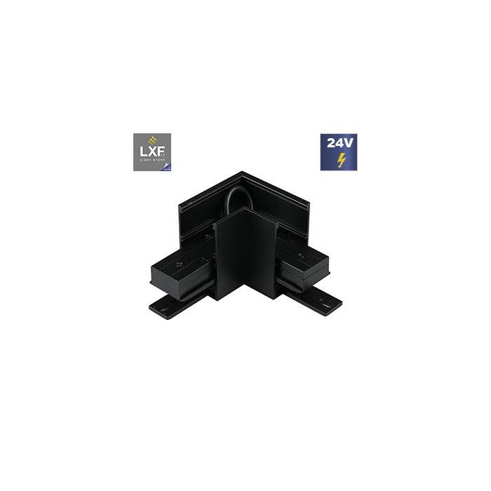 Rohová spojka magnetické kolejnice V-TAC L - černá (SKU 7972)