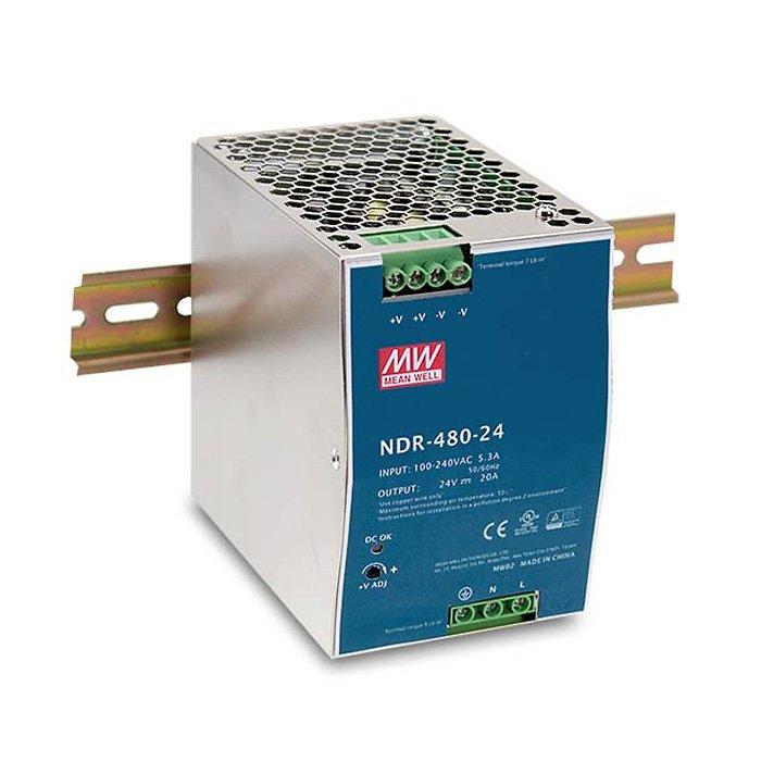 LED zdroj Mean Well NDR 480W 24V - na DIN lištu (NDR-480-24)