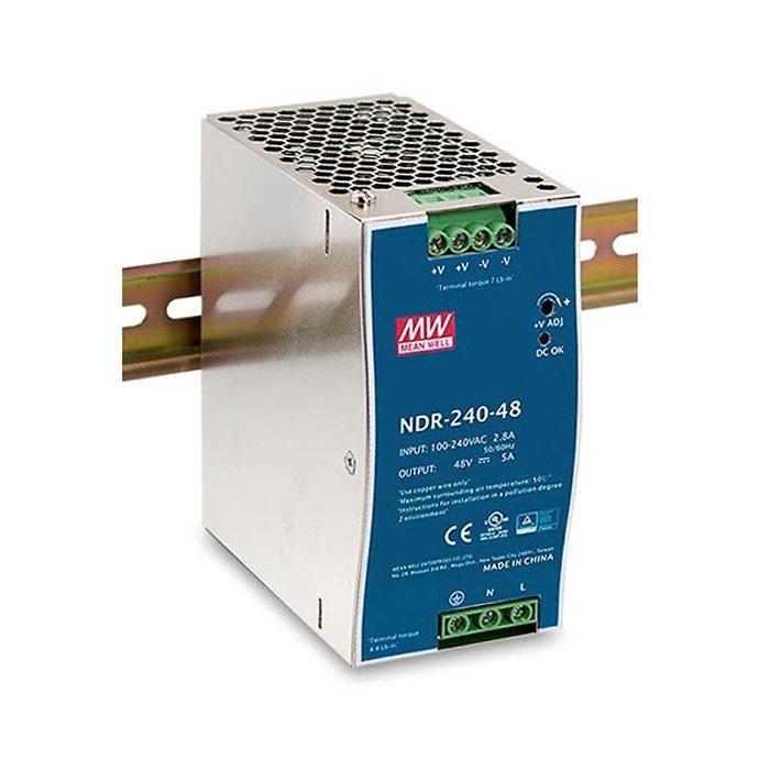 LED zdroj Mean Well NDR 240W 24V - na DIN lištu (NDR-240-24)
