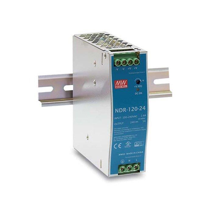 LED zdroj Mean Well NDR 120W 24V - na DIN lištu (NDR-120-24)