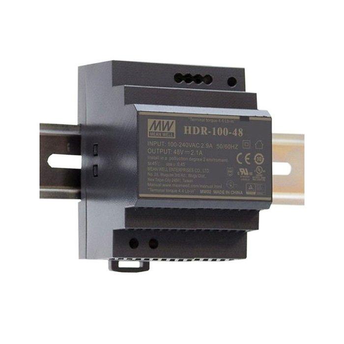 LED zdroj Mean Well HDR 100W 24V - na DIN lištu (HDR-100-24)