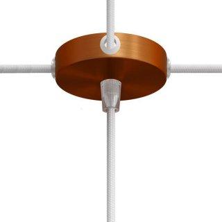 Baldachýn kovový 83mm s jedním spodním otvorem a čtyřmi bočními otvory měděná matná 1