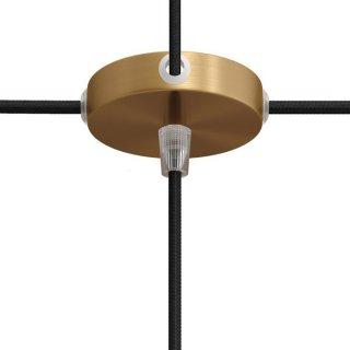 Baldachýn kovový 83mm s jedním spodním otvorem a čtyřmi bočními otvory bronzová matná 1