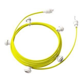 Světelný řetěz E27 sestavený 7,5m s pěti bílými objímkami IP44