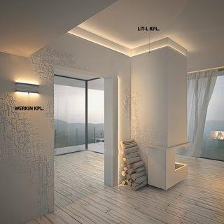 LED profil KLUŚ LIT-L neanodizovaný - 18033
