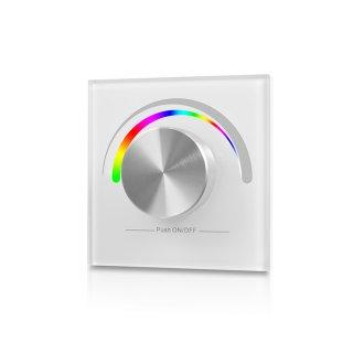 RF nástěnný RGB ovladač Sunricher 1-zónový - bílý (SR-2836RGB-W)