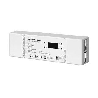 DALI RGBW ovladač s funkcí MASTER Sunricher 4-kanálový 4x5A (SR-2309FA-RGBW-OLED)