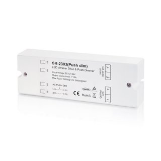 DALI stmívač Sunricher 1-kanálový 1x10A (SR-2303-Push dim)