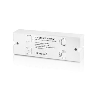 1-10V LED stmívač Sunricher 1x10A (SR-2006-Push dim)
