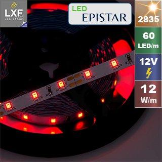 7703 3 led pasek luxifer 2835 12v 12w cervena