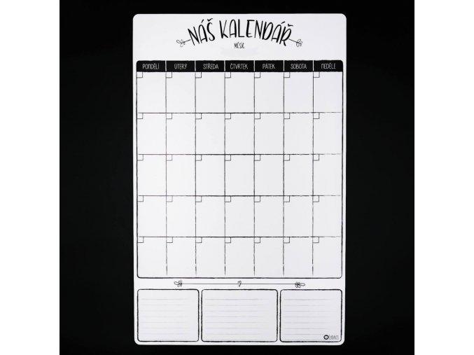 Nedatovaný měsíční magnetický rodinný kalendář