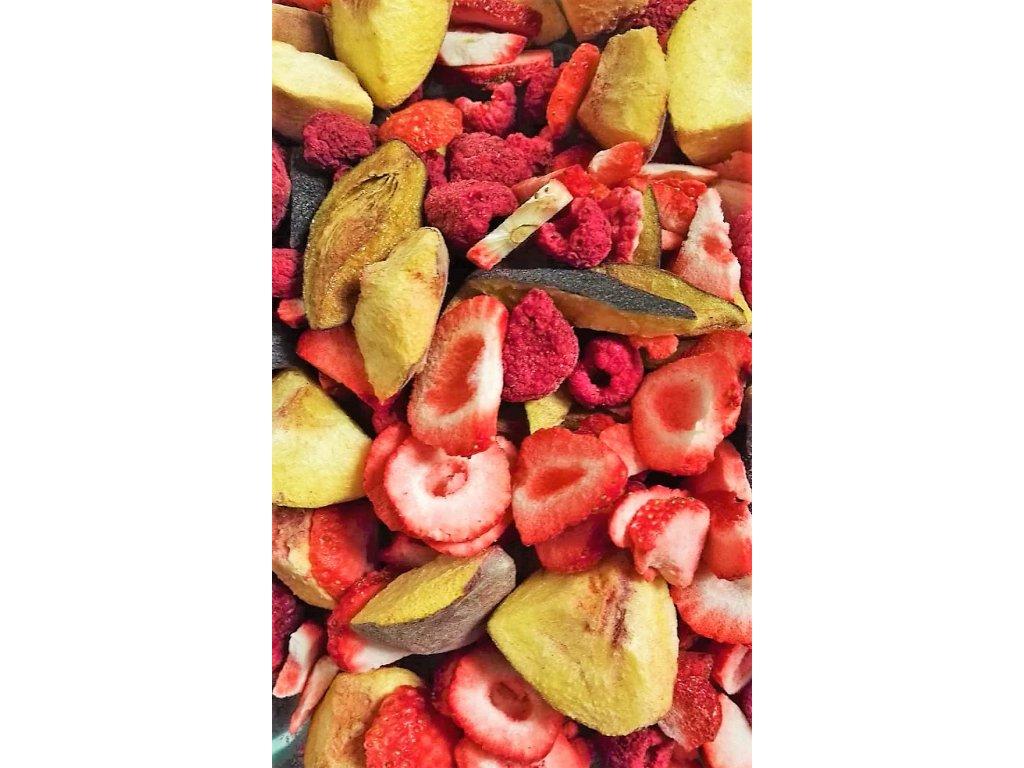 MiXniSi jahody,maliny, broskve a švestky