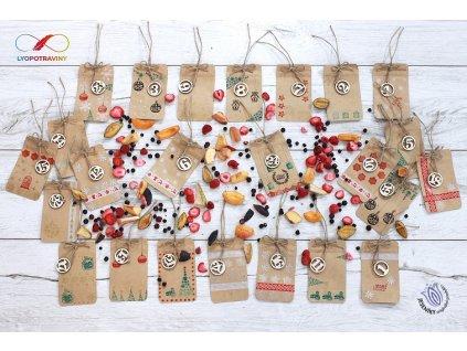 Náplň do adventního kalendáře (mrazem sušené ovoce)