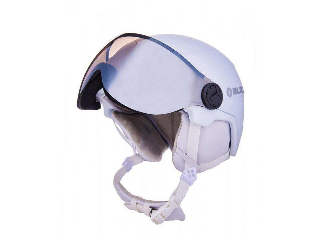 Blizzard VIVA Double Visor helmet white matt/smoke lens/mirror